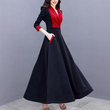 内搭大zu打底连衣裙ai2020新式气质修身显瘦超长式配大衣长裙