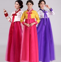 高档女zu韩服大长今ng演传统朝鲜服装演出女民族服饰改良韩国
