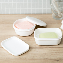 日本进zwinomacq皂盒创意旅行便携皂盒浴室带盖沥水皂架