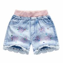 薄式童装女童牛仔短裤外穿中大zw11宝宝百cq男童夏式短裤子