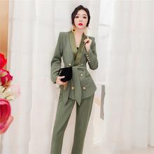 【现货zz套装女韩款ww1新式春装时尚职业套装洋气两件套气质