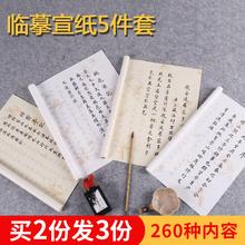 (小)楷临zz纸套装粉彩ww经抄经本描红书法入门软笔字帖 毛笔初学套装 毛笔 入门
