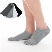 防臭五指超趾zz3帮男吸脚qp船袜彩袜5短袜子双隐形运动棉