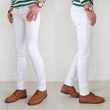 新品浅纯白色裤非主流男装